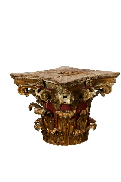 Carinthin Column top, Rare Red and Gold combination, Circe 1800's