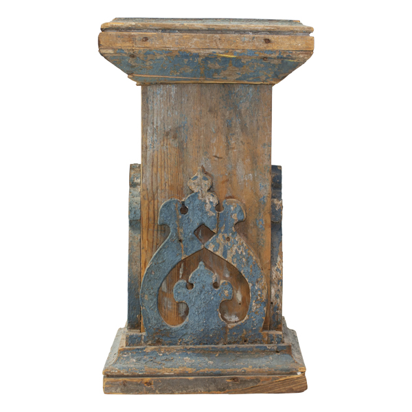 Base of a much larger column lost in demolition from a front porch in Russia.  Circa 1850's