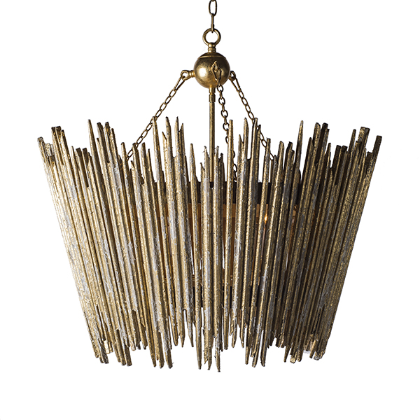 Crown & Glory Gold Chandelier