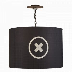 Obsidian Barrel Pendant- LG
